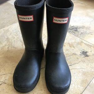 Hunter boots children's black size